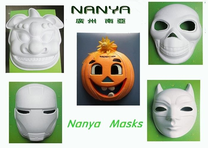 Pumpkin / Lion / Iron Man Mask Pulp Moulded Products for Party Decoration